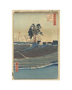 hiroshige utagawa, one hundred famous views of edo, shinagawa