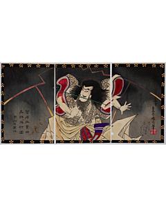 Kunichika Toyohara, Kabuki Actor Ichikawa Udanji Plays as Sugawara no Michizane