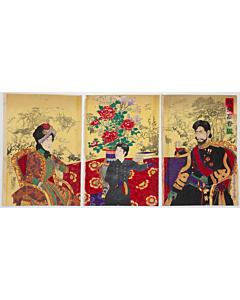 chikanobu yoshu, imperial family, meiji emperor