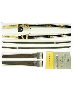 japanese sword, japanese katana, japanese antique, swordsmith, edo period, steel, maki-e, lacquer, blade