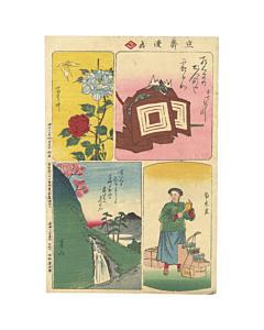 Hiroshige III Utagawa, Ichikawa Danjuro IX, Peony and Butterfly, Spring Mountain