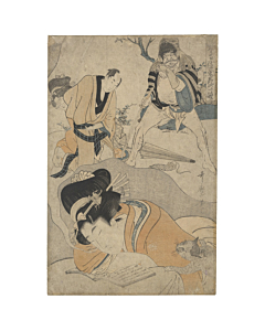 japanese woodblock print, japanese antique, ukiyo-e, utamaro, beauty