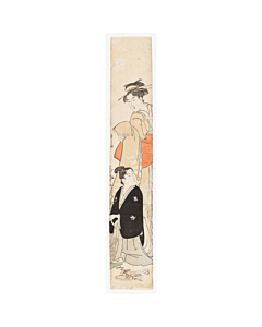 hashira-e, pillar print, flower arrangement, japanese custom, culture, edo period