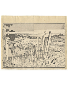 hokusai katsushika, views of mount fuji, fishing boats, edo