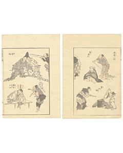 hokusai katsushika, manga, sketches