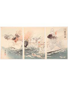gekko ogata, war print, japanese battle, japanese history, meiji period