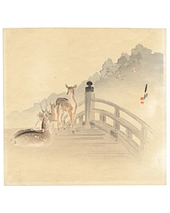 gekko ogata, deer on a bridge