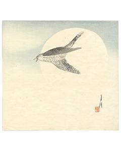 gekko ogata, Nighthawk by Moon, bird print