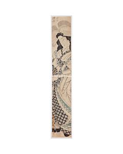 kuninao utagawa, hashira-e, japanese courtesan