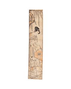 koryusai isoda, kite, hashira-e, pillar print