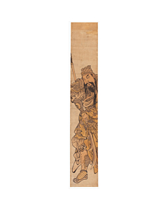 chinese warrior, hashira-e, pillar print
