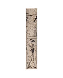 beauty, umbrella, hashira-e, edo period, pillar print