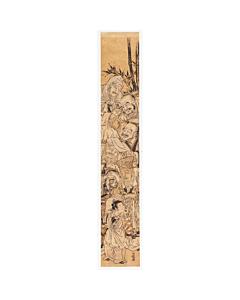 hashira-e, pillar print, chinese scholars, koryusai, edo period