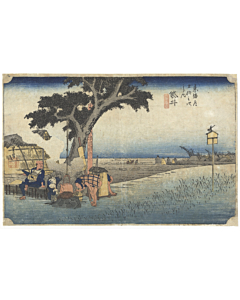 hiroshige ando, Fukuroi, The Fifty-three Stations of the Tokaido 東海道五十三次, landscape