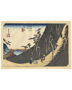 hiroshige ando, Nissaka, Sayo Mountain Pass, The Fifty-three Stations of the Tokaido 東海道五十三次