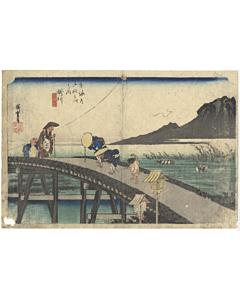 hiroshige ando, Fifty-three Stations of the Tokaido 東海道五十三次, kakegawa, landscape, travel, edo, kyoto