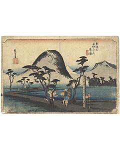 hiroshige I utagawa, hiratsuka, The Fifty-three Stations of the Tokaido 東海道五十三次, japan travel