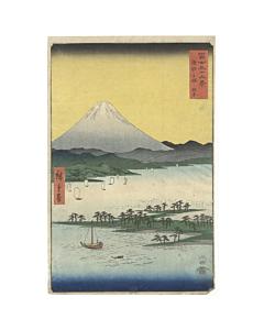 hiroshige I utagawa, hiroshige ando, landscape, edo period, mount fuji view