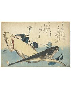 hiroshige ando, grand series of fish