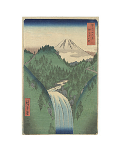 Hiroshige Ando, The Izu Mountain, Thirty-six Views of Mt. Fuji