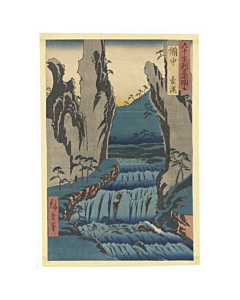 Hiroshige Ando, Gokei Valley in Bitchu, Famous Views of the Sixty-odd Provinces