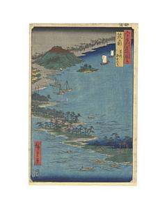 hiroshige ando, hakozaki, landscape