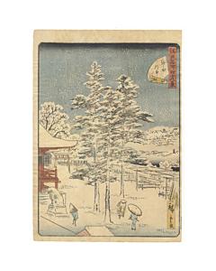 hiroshige II utagawa, Kanda Myojin Shrine 神田明神, Forty-eight Famous Views of Edo 江戸名所四十八景