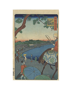 hiroshige II utagawa, edo period, landscape, famous views from various provinces, horse, western