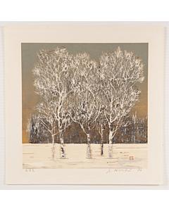 joichi hoshi, trees in winter, landscape