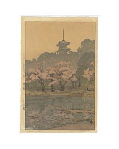hiroshi yoshida, sankei-en, pagoda