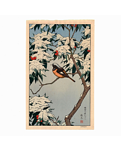 toshi yoshida, winter, birds of the seasons