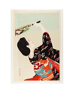 Shinsui Ito, Battledore, Beauty in Kimono