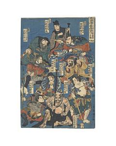 japanese woodblock print, japanese tattoo, irezumi, tattoo design, suikoden, kuniyoshi