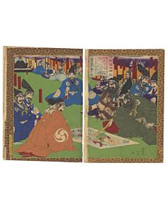 toyonobu utagawa, warrior, japanese woodblock print, japanese antique, ukiyo-e