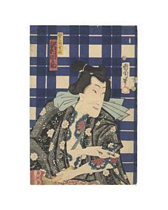 kunichika toyohara, woodblock print, tattoo design, irezumi, tattoo inspiration, kabuki actor