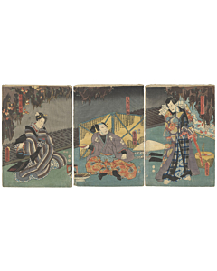toyokuni III utagawa, kabuki play, actors
