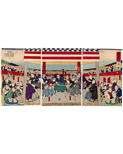 kuniteru II utagawa, sword fighting, kendo