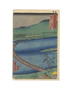 hiroshige ando, Toyama, Funabashi in Etchu Province, landscape