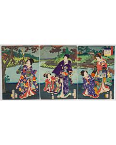 Kunichika Toyohara, Prince Genji, Eight Views of Edo