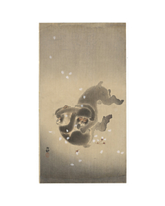 koson ohara, playing monkeys