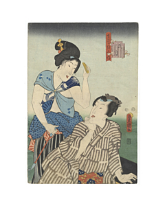 toyokuni III utagawa, tale of genji, traditional design