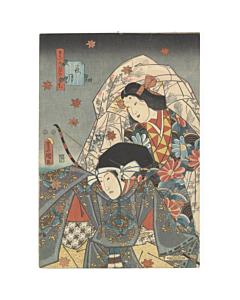 toyokuni III utagawa, tale of genji, traditional design