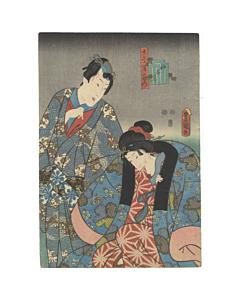 Toyokuni III Utagawa, Kan'nazuki, The Tenth Month, Genji-e