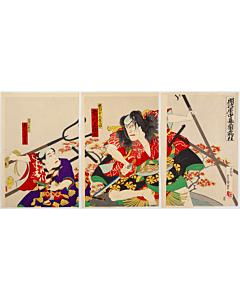 Hosai Utagawa, Kabuki Play, Ranpei Monogurui, Traditional Theatre