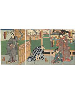 Toyokuni III Utagawa, Soga Matsuri Iro no Aikata, Traditional Kabuki Theatre