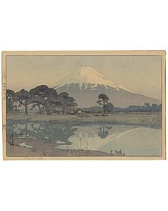 hiroshi yoshida, mount fuji, suzukawa, shin-hanga landscape