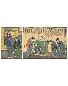 Toyokuni III Utagawa, The Tale of Genji, Lady Rokujo