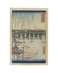 Hiroshige I Utagawa, Ryogoku Bridge, Thirty-six Views of Mt. Fuji