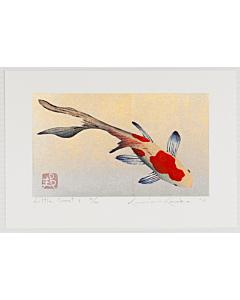 Kunio Kaneko, Little Comet, Fish, Gold Leaf, Contemporary Art