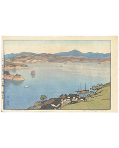 hiroshi yoshida, a calm day, landscape, shin-hanga